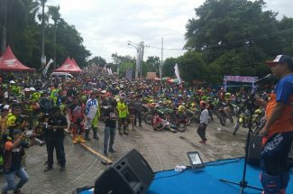 Ribuan Rider Meriahkan One Day Trail Adventure HUT Sidrap