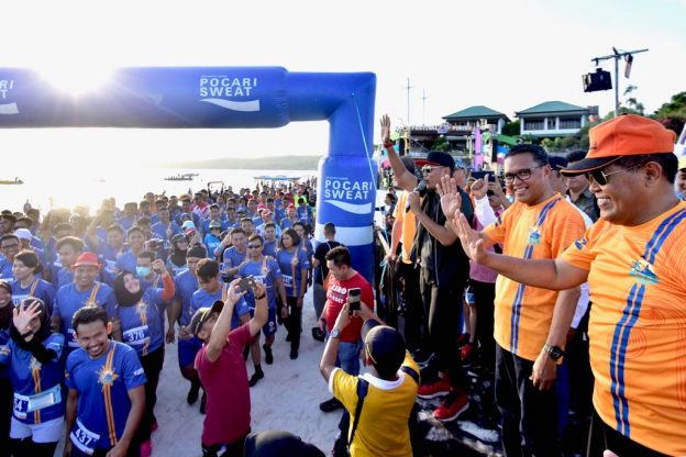 Bira Sunset Run 2018 yang digelar di Bulukumba, Sabtu, 15 September 2018.