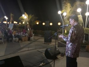 Gubernur Sulawesi Selatan Nurdin Abdullah menutup The 1st Blennial Conference Of Tropical Biodiversity  Universitas Hasanuddin pada gala dinner di Hotel The Rinra, Makassar,  Kamis, 20 September 2018.